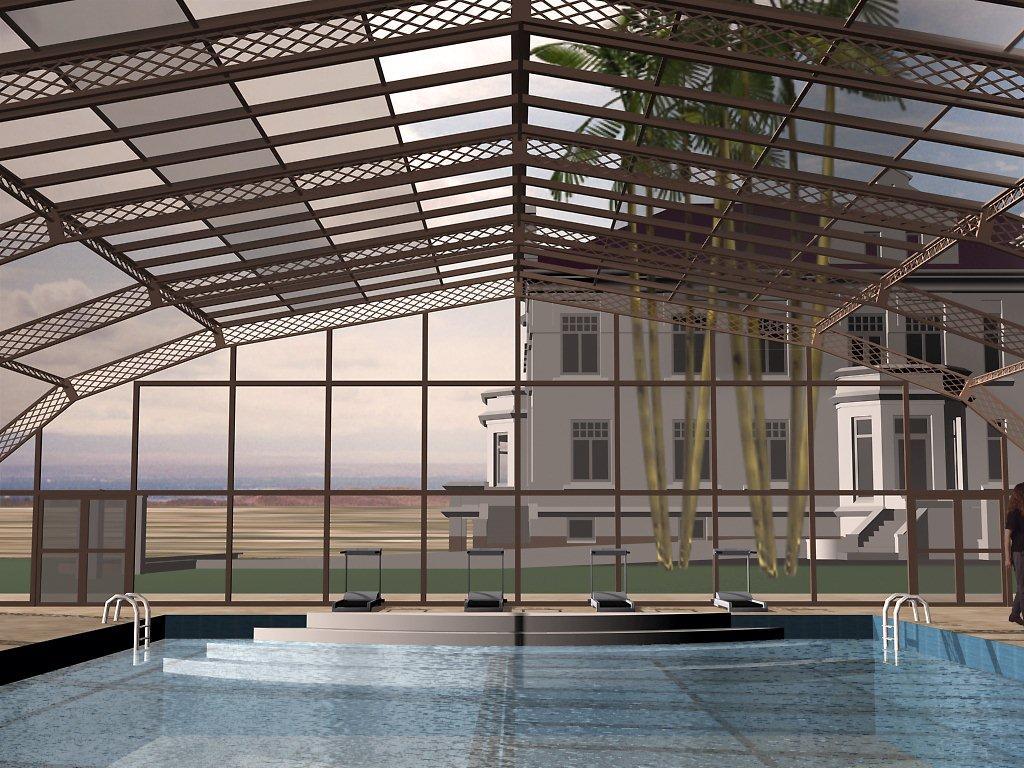 Stoett | Indoor Outdoor Enclosure | freestanding pool cover 369