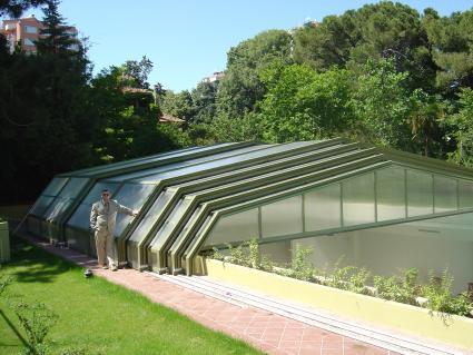 Stoett   Indoor Outdoor Enclosure   freestanding pool cover 333