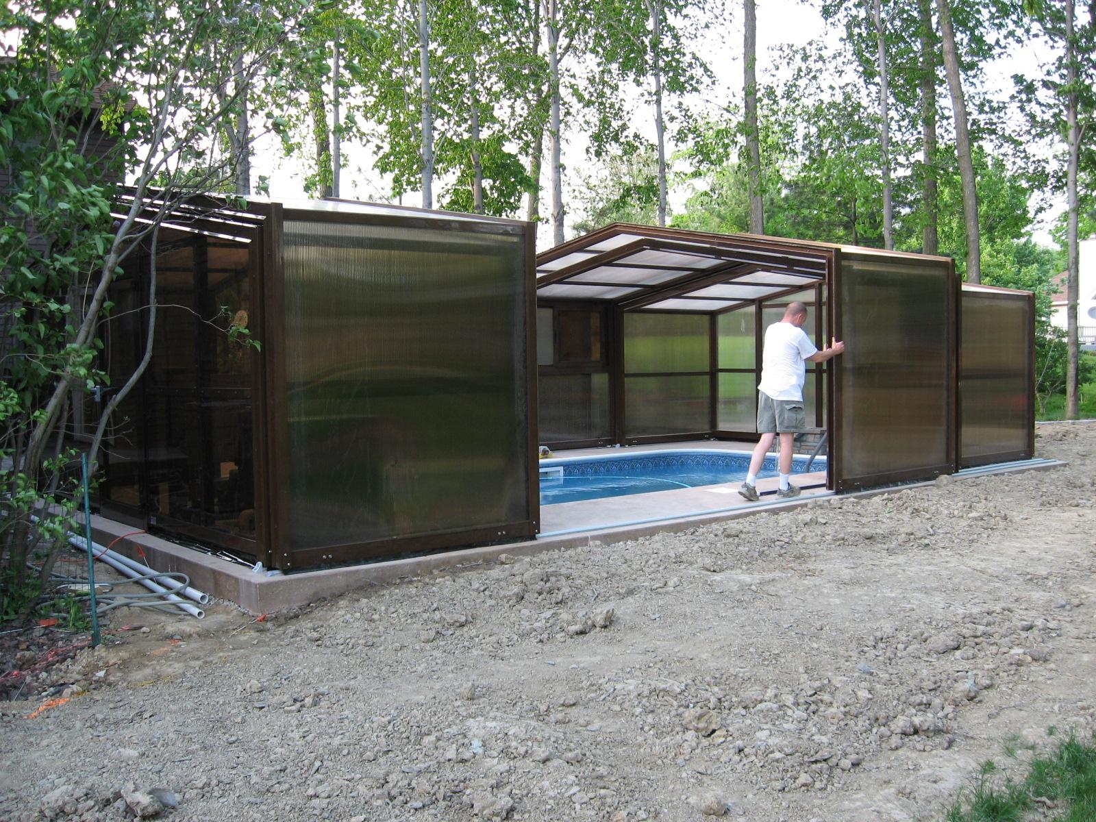 Stoett | Indoor Outdoor Enclosure | freestanding pool cover 94