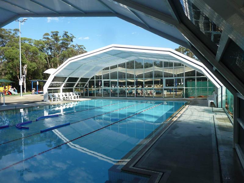 Stoett | Indoor Outdoor Enclosure | freestanding pool cover 1182